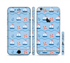 The Blue & Red Nautical Sailboat Pattern Sectioned Skin Series for the Apple iPhone 6/6s Plus