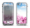 The Blue Sky Pink Flower Field Apple iPhone 5-5s LifeProof Nuud Case Skin Set