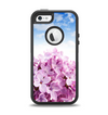 The Blue Sky Pink Flower Field Apple iPhone 5-5s Otterbox Defender Case Skin Set