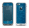 The Blue Sparkly Glitter Ultra Metallic Apple iPhone 5-5s LifeProof Fre Case Skin Set