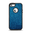 The Blue Sparkly Glitter Ultra Metallic Apple iPhone 5-5s Otterbox Defender Case Skin Set