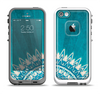 The Blue Spiked Orb Pattern V3 Apple iPhone 5-5s LifeProof Fre Case Skin Set