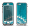 The Blue Spiked Orb Pattern V3 Apple iPhone 5-5s LifeProof Nuud Case Skin Set