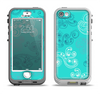 The Blue Swirled Abstract Design Apple iPhone 5-5s LifeProof Nuud Case Skin Set