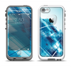 The Blue Transending Squares Apple iPhone 5-5s LifeProof Fre Case Skin Set