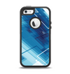 The Blue Transending Squares Apple iPhone 5-5s Otterbox Defender Case Skin Set