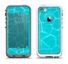 The Blue Translucent Outlined Pentagons Apple iPhone 5-5s LifeProof Fre Case Skin Set