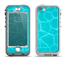 The Blue Translucent Outlined Pentagons Apple iPhone 5-5s LifeProof Nuud Case Skin Set