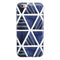 The Blue Triangluar Aztec Pattern iPhone 6/6s or 6/6s Plus 2-Piece Hybrid INK-Fuzed Case