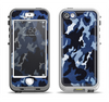 The Blue Vector Camo Apple iPhone 5-5s LifeProof Nuud Case Skin Set