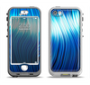 The Blue Vector Swirly HD Strands Apple iPhone 5-5s LifeProof Nuud Case Skin Set