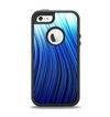 The Blue Vector Swirly HD Strands Apple iPhone 5-5s Otterbox Defender Case Skin Set