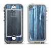 The Blue Washed WoodGrain Apple iPhone 5-5s LifeProof Nuud Case Skin Set
