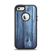 The Blue Washed WoodGrain Apple iPhone 5-5s Otterbox Defender Case Skin Set