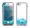 The Blue Water Color Flowers Apple iPhone 5-5s LifeProof Nuud Case Skin Set