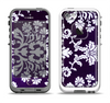 The Blue & White Delicate Pattern Apple iPhone 5-5s LifeProof Fre Case Skin Set