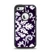The Blue & White Delicate Pattern Apple iPhone 5-5s Otterbox Defender Case Skin Set