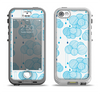 The Blue & White Seamless Ball Illustration Apple iPhone 5-5s LifeProof Nuud Case Skin Set