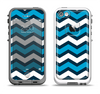 The Blue Wide Chevron Pattern Apple iPhone 5-5s LifeProof Fre Case Skin Set