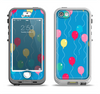 The Blue With Colorful Flying Balloons Apple iPhone 5-5s LifeProof Nuud Case Skin Set