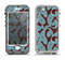 The Blue and Brown Paisley Pattern V4 Apple iPhone 5-5s LifeProof Nuud Case Skin Set