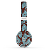 The Blue and Brown Paisley Pattern V4 Skin Set for the Beats by Dre Solo 2 Wireless Headphones