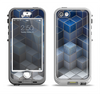 The Blue and Gray 3D Cubes Apple iPhone 5-5s LifeProof Nuud Case Skin Set