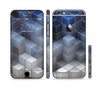 The Blue and Gray 3D Cubes Sectioned Skin Series for the Apple iPhone 6/6s
