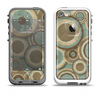 The Blue and Green Overlapping Circles Apple iPhone 5-5s LifeProof Fre Case Skin Set