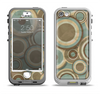 The Blue and Green Overlapping Circles Apple iPhone 5-5s LifeProof Nuud Case Skin Set