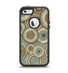 The Blue and Green Overlapping Circles Apple iPhone 5-5s Otterbox Defender Case Skin Set