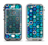 The Blue and Green Vibrant Hexagons Apple iPhone 5-5s LifeProof Nuud Case Skin Set