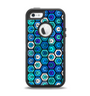 The Blue and Green Vibrant Hexagons Apple iPhone 5-5s Otterbox Defender Case Skin Set