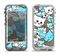The Blue and Pink Vector Faced Cats Apple iPhone 5-5s LifeProof Nuud Case Skin Set