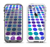 The Blue and Purple Strayed Polkadots Apple iPhone 5-5s LifeProof Fre Case Skin Set