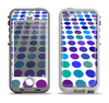 The Blue and Purple Strayed Polkadots Apple iPhone 5-5s LifeProof Nuud Case Skin Set