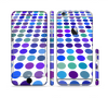 The Blue and Purple Strayed Polkadots Sectioned Skin Series for the Apple iPhone 6/6s