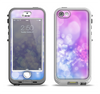 The Blue and Purple Translucent Glimmer Lights Apple iPhone 5-5s LifeProof Nuud Case Skin Set