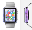 The Blue and Purple Translucent Glimmer Lights Full-Body Skin Set for the Apple Watch
