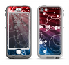 The Blue and Red Light Arrays with Glowing Vines Apple iPhone 5-5s LifeProof Nuud Case Skin Set