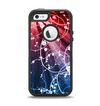 The Blue and Red Light Arrays with Glowing Vines Apple iPhone 5-5s Otterbox Defender Case Skin Set