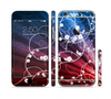 The Blue and Red Light Arrays with Glowing Vines Sectioned Skin Series for the Apple iPhone 6/6s