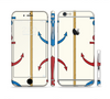 The Blue and Red Simple Anchor Pattern Sectioned Skin Series for the Apple iPhone 6/6s Plus
