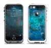 The Blue and Teal Painted Universe Apple iPhone 5-5s LifeProof Fre Case Skin Set
