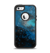 The Blue and Teal Painted Universe Apple iPhone 5-5s Otterbox Defender Case Skin Set