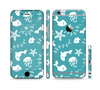 The Blue and White Cartoon Sea Creatures Sectioned Skin Series for the Apple iPhone 6/6s Plus