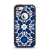 The Blue and White Mosaic Mirrored Pattern Apple iPhone 5-5s Otterbox Defender Case Skin Set