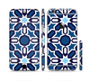 The Blue and White Mosaic Mirrored Pattern Sectioned Skin Series for the Apple iPhone 6/6s Plus