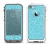 The Blue and White Twig Pattern Apple iPhone 5-5s LifeProof Fre Case Skin Set