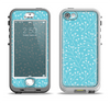 The Blue and White Twig Pattern Apple iPhone 5-5s LifeProof Nuud Case Skin Set